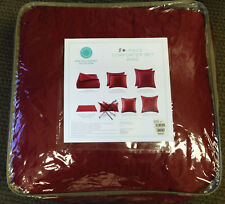 New Martha Stewart Marble Flowers 8 Piece King Comforter Bed In A Bag Set, Red