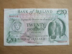 BANK  OF  IRELAND £20  NOTE, 1985. PREFIX  Z,  REPLACEMENT