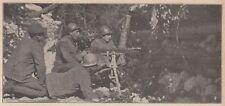 D9037 Militaria - Appostamento per mitragliatrici in una trincea - 1917 stampa