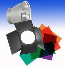 ELINCHROM Reflektor Standard 21cm E26141 mit Abschirmklappen Set und Farbfolien