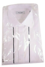 Tacaliti NWT Tuxedo Shirt Size 16.5 42 In White W/ Black Stripe Maker of Canali