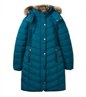 Joules Cherington Quilted Longline Jacket (Dark Teal)