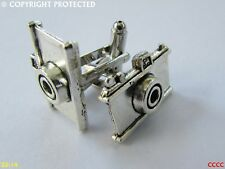 steampunk jewellery cufflinks silver coloured camera photographer tog obscura