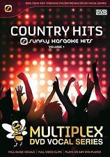 COUNTRY HITS VOL 1 - SUNFLY MULTIPLEX KARAOKE DVD - 12 HIT SONGS
