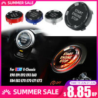 E90 E91 Black Crystal Start Stop Switch Engine Button For BMW E Chassis Puch
