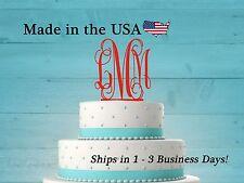 Monogram Cake Topper, Wedding Cake Topper, Baby Shower Cake, Birthday, LT1006