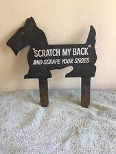 "Scotty Dog Metal Shoe Scraper ""Scratch My Back� And Scrape Your Shoes"