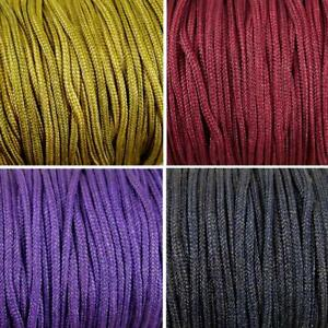 5m x 2mm Nylon Braided cord thread Many Colours Shamballa Knotted Bracelet (C)