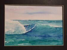 "Original watercolor painting 5"" x 7""  seascape"