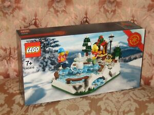 LEGO 40416 ICE SKATING RINK WINTER CHRISTMAS SET NEW SEALED - LIMITED EDITION