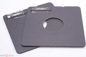 ✅ CAMBO LENS BOARD, PLATE 59MM DIAMETER HOLE 4x5, 5x7, 8x10 CAMERA