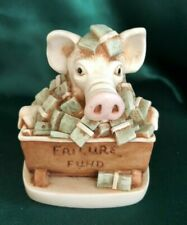 HARMONY KINGDOM - TREASURE JESTS - FEEDING FRENZY (PIG)
