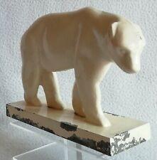 Ancien Ours polaire en métal Zamak vers 1930 Art-déco 1er moitié du XXe