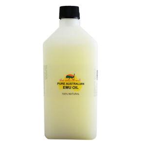 100% Pure Australian Emu Oil Skin Hair Muscle Arthritis Joint Pain Relief 1Litre