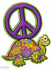 """4.5"""" PEACE SIGN TURTLE CHARACTER PEEL STICK WALL BORDER CUT OUT STICKER"""