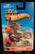 HOTWHEELS ** 3-SQUEALER, TRI-BIKE WITH RIDER **  MUST SEE PICS ! AWESOME RIDE !