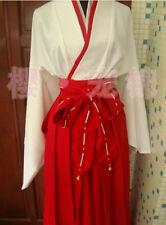 Blood C Kisaragi Saya Cosplay Costume miko kimono cos chokecherry dress set cust