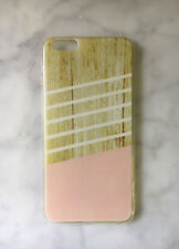 """I phone 6s plus case Blush Pink & Wood Print Silicone Jelly Gel Cover Insta 6"""""""