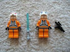 LEGO Star Wars - Rare Luke Skywalker & Dack Ralter Minifigs - 7666 - Excellent