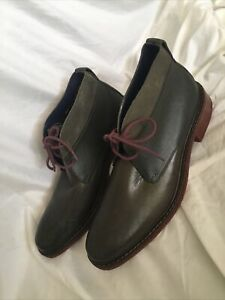 $199 Cole Haan Air Colton Winter Chukka C11775 9.5 M Fatigue Green- Worn Once