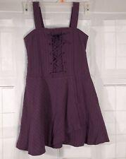 American Girl Jumper Dress Size 10 Purple w/ Pinstripes