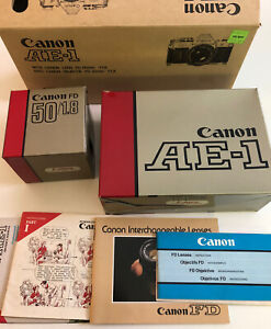 Canon AE-1 35mm SLR Film Camera, Canon FD 50mm F1.8 Lens - As Is, Read More!