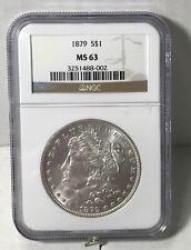1879 Morgan Silver Dollar NGC MS63