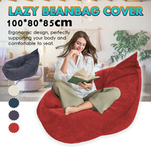 4 Colors Bean Bag Lazy Sofas Cover Lounger Seat Furniture Without Filler AU1 L7