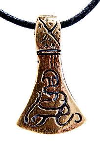 Axt Wikingeraxt Wikinger Beil verziert Bronze Anhänger Odin Streitaxt Nr. 33