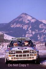 Didier Auriol Lancia Delta Integrale Winner Monte Carlo Rally 1992 Photograph 1