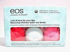 eos (Evolution of Smooth) Organic lip balm 6-pack box (contains 3 flavors)