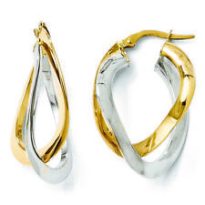 Finejewelers 14 KT Gold Polished Twisted Double Hoop Earrings Lesle410c