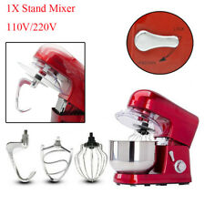 Compact 6-speed 5L Metallic Red Stand Mixer 1200W W/Mixing Bowl for Household