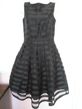 Coast Black Sleeveless Occassions Fit & Flare Dress Size 8