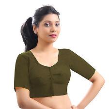 Pure Cotton Blouse Top Shirt Wedding Choli Saree Skirt Bollywood Indian 23 Color