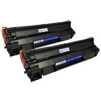 2 Noire Laser Cartouches de Toner pour HP LaserJet Pro P1102, P1102w, P1104w