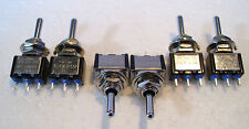 2K280 6 x Mini Toggle SPDT (on) Off (on) Biased Peco Point Motor Switch 2nd Post