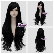 80CM Wavy Hair for Adventure Time Marceline the Vampire Queen Cosplay Wig + Cap