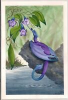 Original Painting - Watercolor Mini Dragons Series Signed by Lynn Seymour