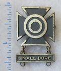 US ARMY SMALL BORE RIFLE MARKSMANSHIP BADGE Pinback VIETNAM WAR Vintage