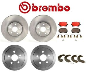 Brembo Full Brake Kit Front Disc Rotors Pads Rear Drums Shoes For Toyota Corolla