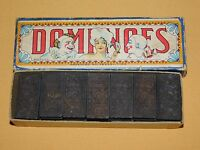 VINTAGE EARLY 1900S OLD GAME TOY  MADE IN USA CLOWN JESTER DOMINOES IN BOX