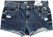 84544a2443ea Womens Size 14 Blue Old Navy Jean Shorts Distressed Cut-offs BOYFRIEND Stars