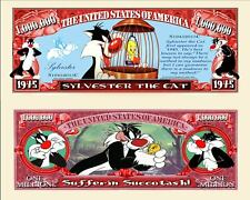 OUR SYLVESTER THE CAT CARTOON BILL (FREE HARD DURABLE PROTECTIVE SLEEVE)