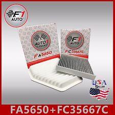 FA5650 FC35667C(CARBON) PREMIUM ENGINE & CABIN AIR FILTER for 2006-2012 RAV4