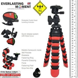 Large Heavy Duty Octopus Flexible Gorilla Tripod for DSLR with GoPro Adapter