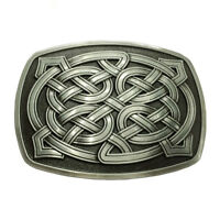 Novelty Celtic Pattern Belt Buckle Rectangle Western Cowboy American Rodeo