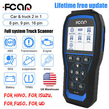 Fcar F506 All System Hd Diesel Truck Heavy Duty Diagnostic Scanner Abs Tpms Srs