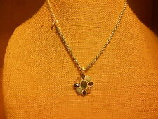Necklace from Avon (new) MULTI BLUES SILVER FLOWER - SHORT