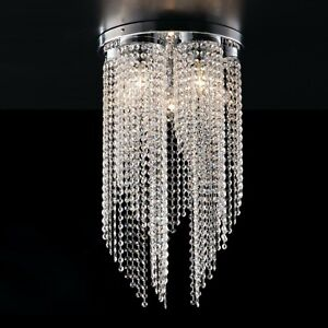 Plafoniera moderna elegante strass cristalli pendenti swarovski 1 3 5 Luci Dandy